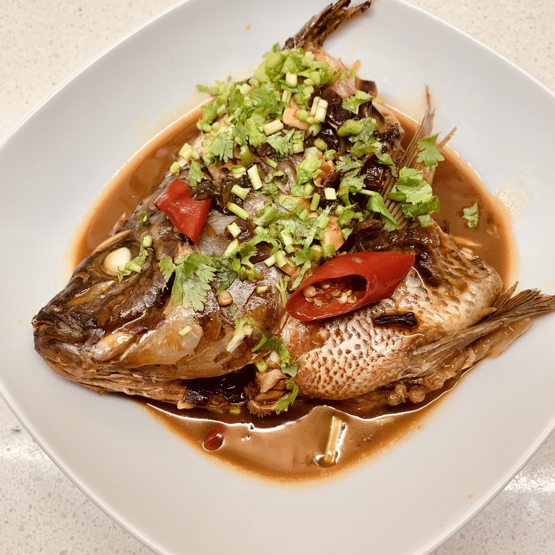 中秋節最省心最簡單的燉魚!不用翻面!真香