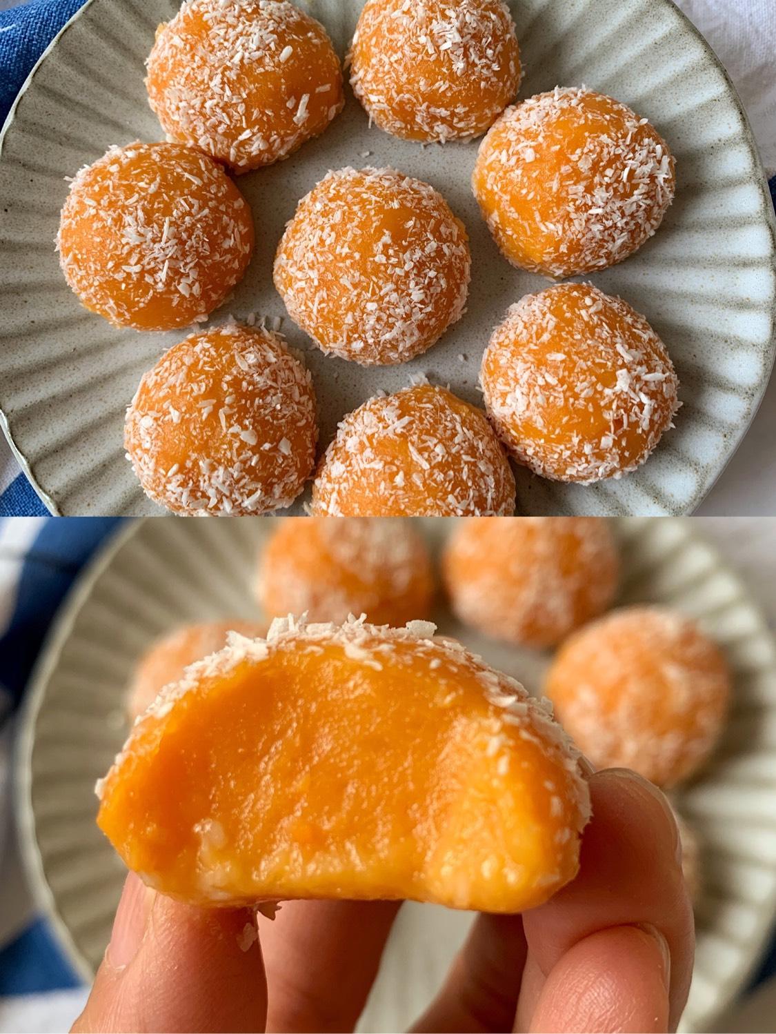奶香红薯椰蓉球🔥用孩子喜欢的红薯?