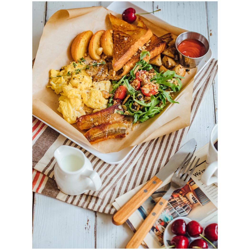 超級幸福的早餐大拼盤,元氣滿滿的一天