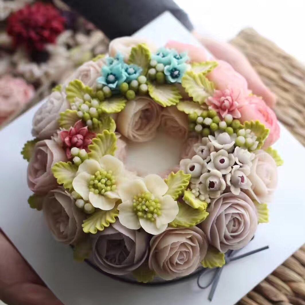 豆沙裱花蛋糕 美不美