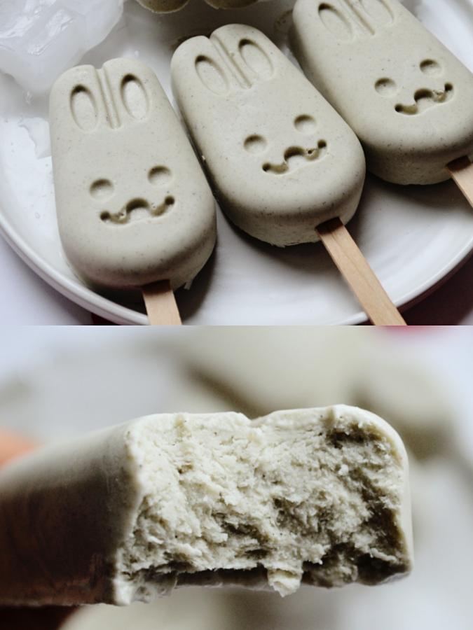 超简单的雪糕做法❗️黑豆浆做的雪糕🍦