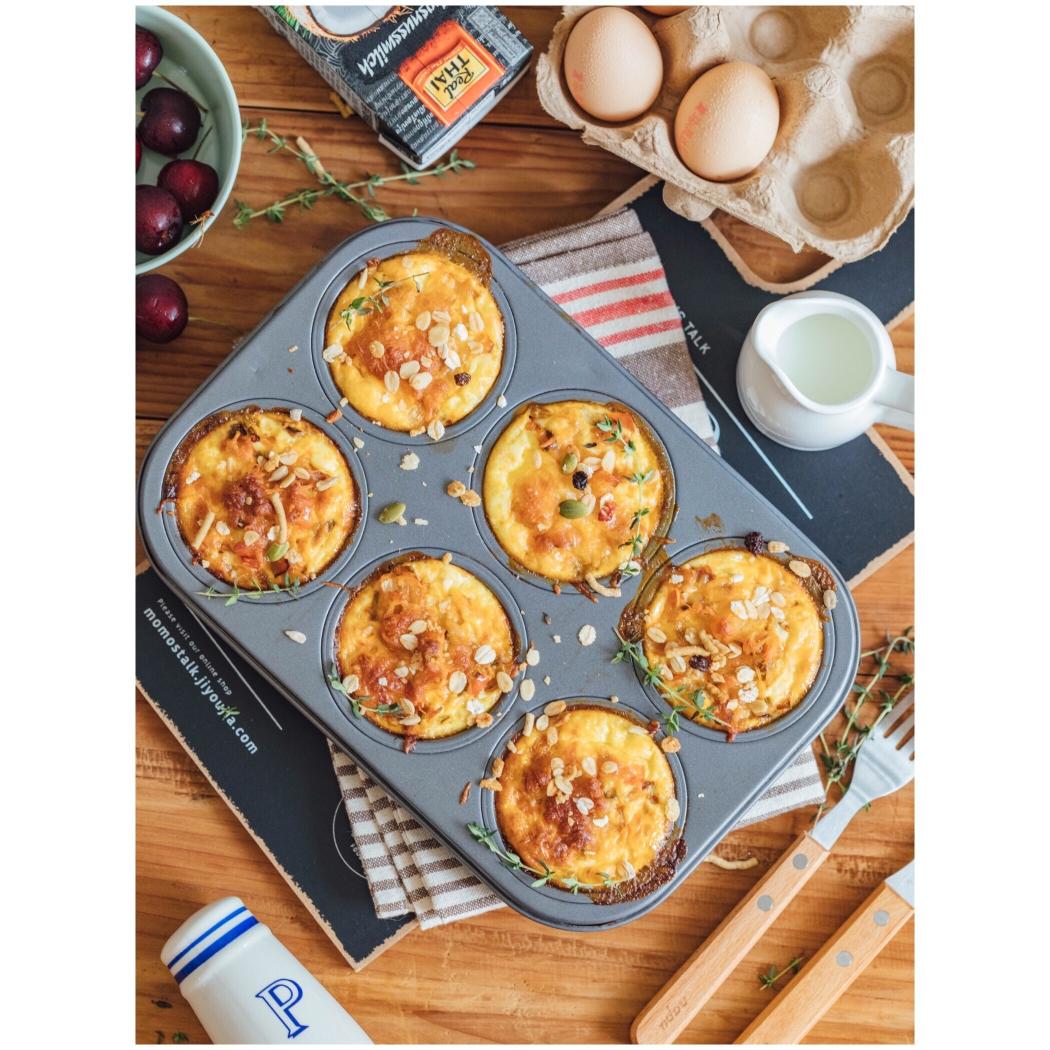 雞蛋蔬菜瑪芬杯,超級美味的快手營養早餐