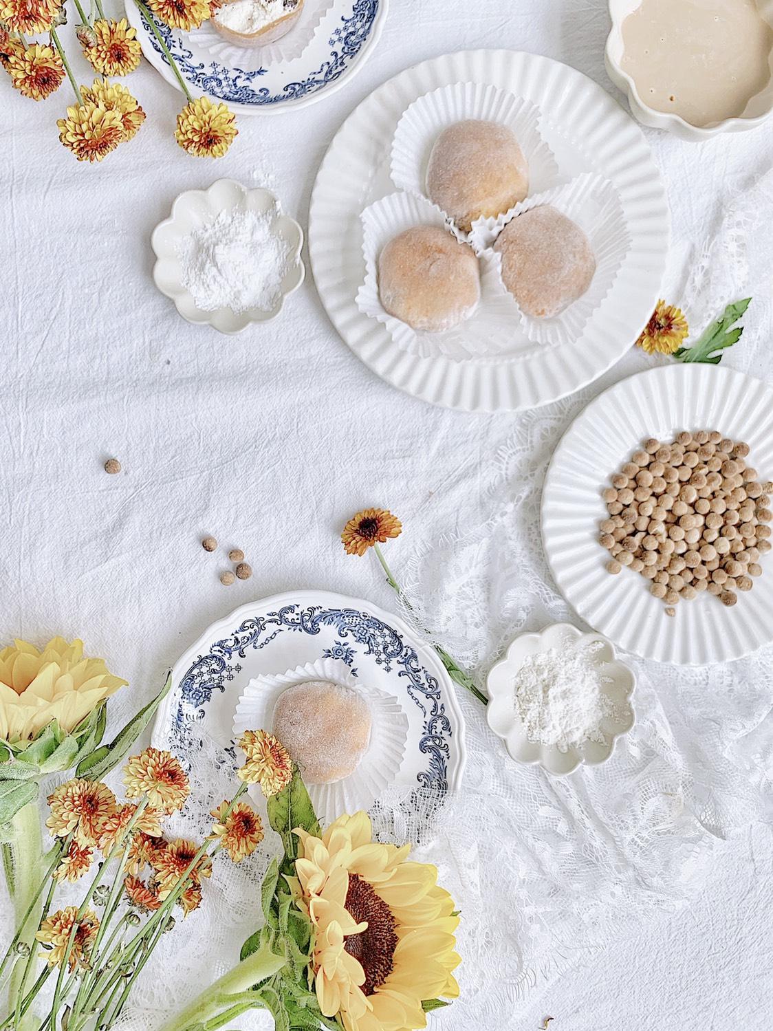 免烤箱❗️一次成功的珍珠奶茶雪媚娘‼️香